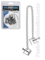 Push Xtreme Fetish - Press Nipple Clamps With Chain